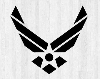 2x US Air Force Logo Vinyl Decal Sticker Different colors /& size for Cars//Bikes
