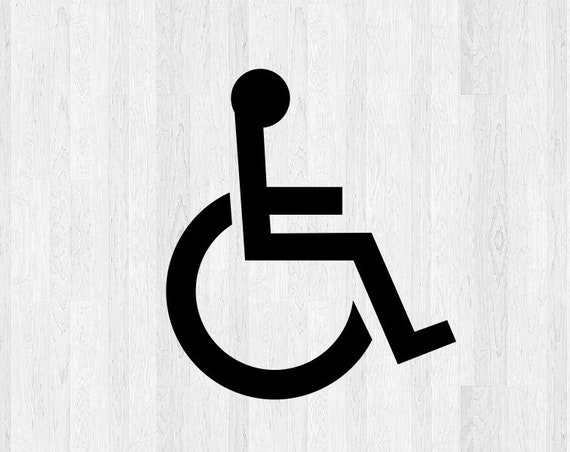 Set of 2 Handicap Symbol Decals - Wheelchair Accessible Decal - Wheelchair Decal ADS Symbol - Car Truck Building Business Sign Decals