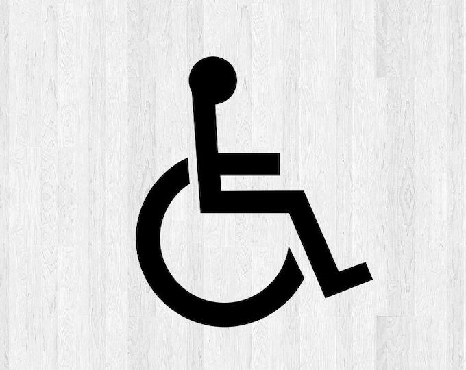 Set of 2 Handicap Symbol Decals - Wheelchair Accessible Decal - Wheelchair Decal ADS Symbol - Car Truck Building Business Sign Decals