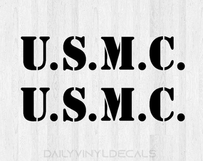 USMC Decal USMC Sticker - Set of 2 USMC Stickers - usmc Lettering Decal - Military Sticker Military Decals usmc car decal truck decal
