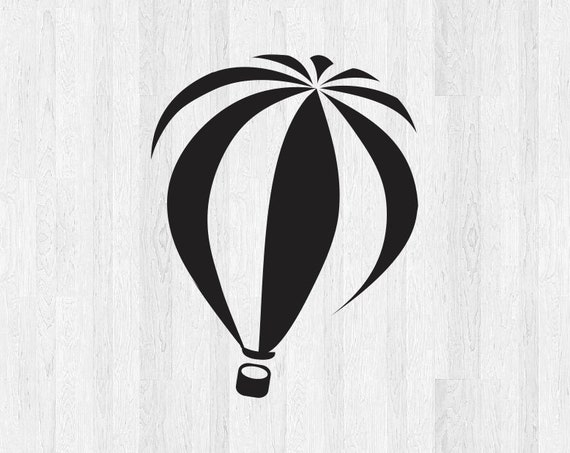 Hot Air Balloon Decal Hot Air Balloon Sticker *Choose size and color* Hot Air Balloon Birthday Balloon Car Laptop Decal Etc.
