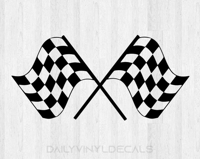 Checkered Flag Decal Checkered Flag Sticker - Checkered Flags Racing Decal Finish Line Car Racing Nascar Stock Car Sports Motorsports etc