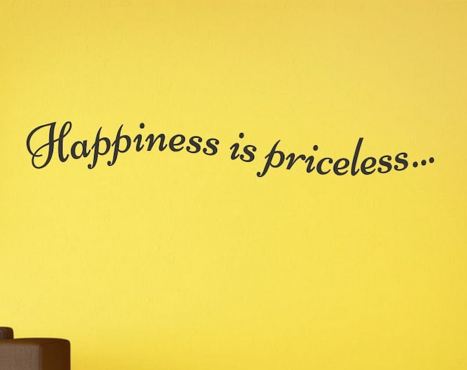 Happiness is pricess - Vinyl Decal *Custom Size & Color* Vinyl Wall Decal - Wall Quotes - Vinyl Sticker - Vinyl Decal