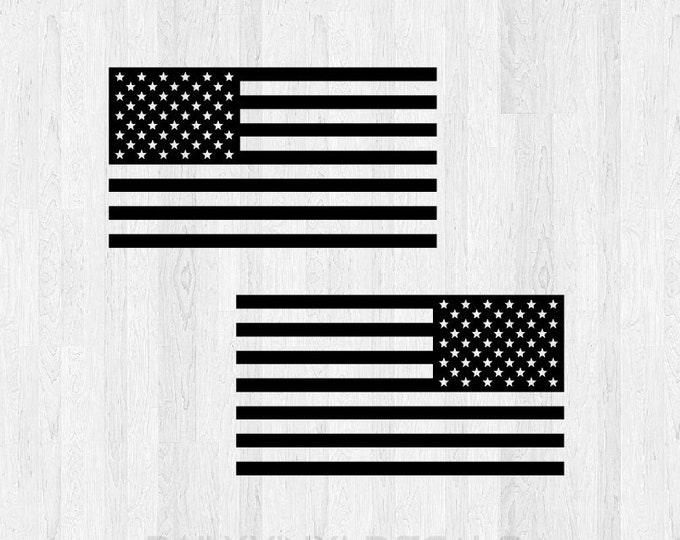 American Flag Decal Pair  *Choose Size & Color* American Flag Stickers Car Decal Truck Decal America USA Jeep Decal