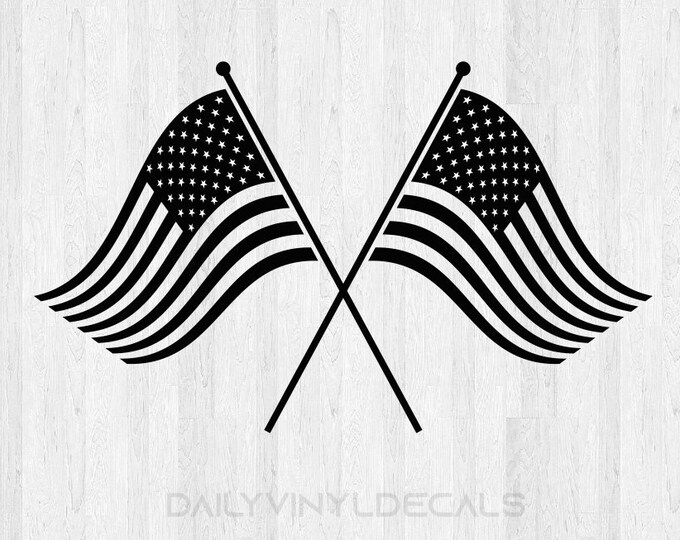American Flag Decal - American Flag Sticker - Flags Sticker America United States Flag Pride