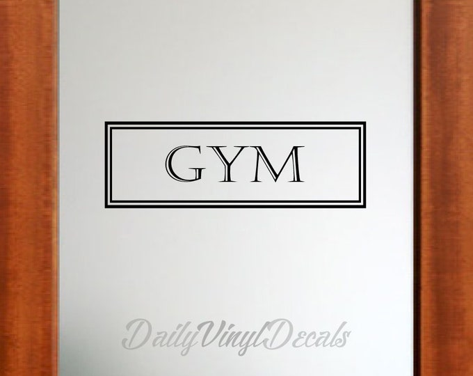 Gym Vinyl Decal *Choose Size & Color* Gym Wall Decal - Vintage Style Gym Wall Decal Vinyl Lettering Window Door Decal Pantry Decal