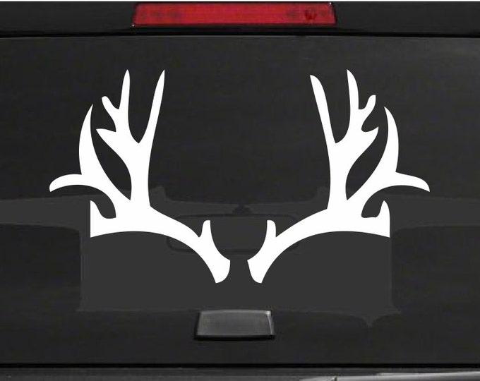 Deer Rack Decal Deer Rack Sticker Deer Hunter Stickers - Hunting Decals Buck Hunter Decals - Hunting Graphics