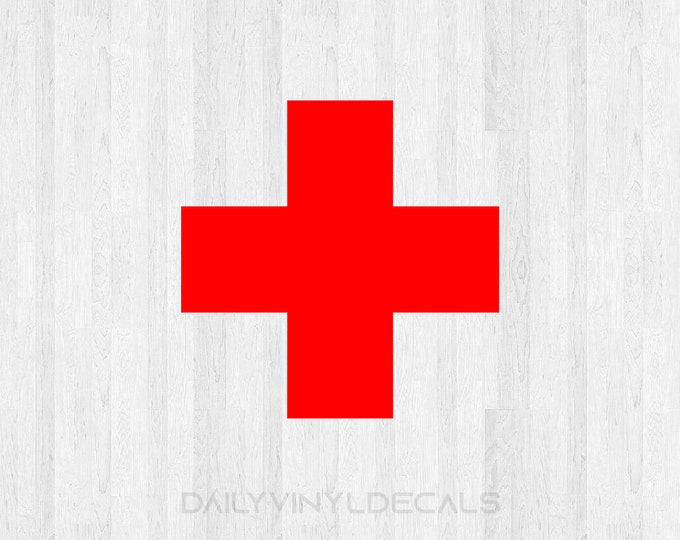Set of 2 Medical Cross Decals - Medical Cross Stickers - Hospital Cross Doctor Nurse Health Care Decal First Aid Decal