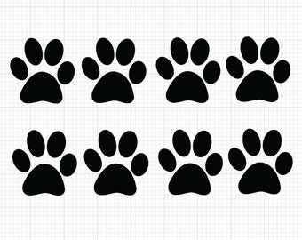 df2549a60563f 8 Pack Paw Print Decals  Choose size   color  Paw Print Vinyl Stickers - Dog  Prints Cats Print Pets Animals - Paw Print Sticker Animal Lover