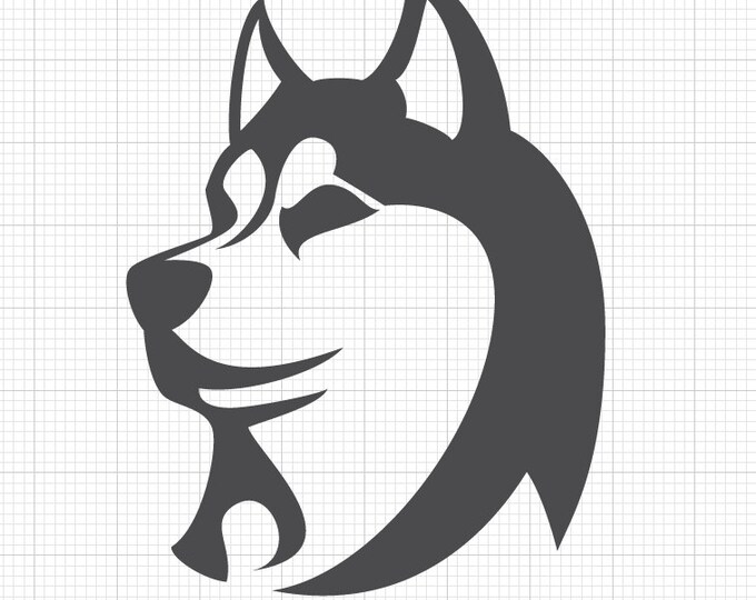 Husky Dog Decal - Husky Decal Husky Dog Breed Sticker - Husky Sticker *Choose Size & Color* Dog Lovers Large Breed Dogs