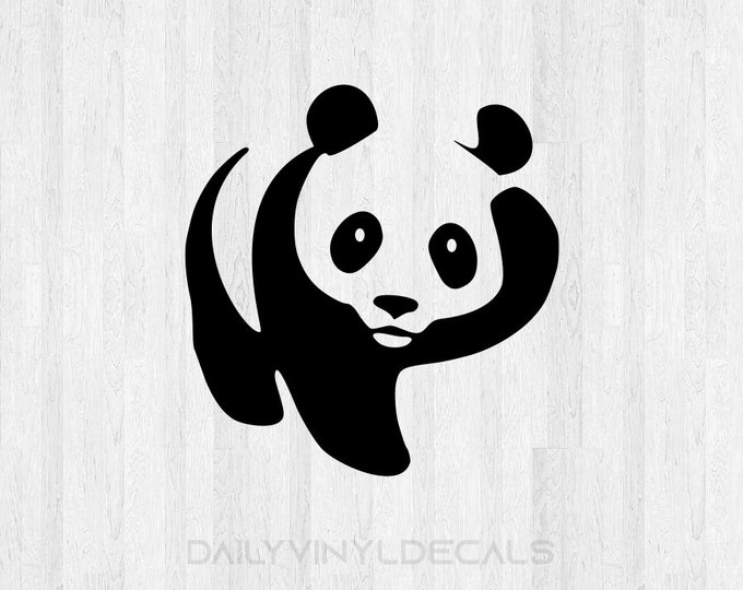 Panda Decal Panda Sticker Panda Bear Decal Panda Bear Sticker Car Decal Laptop Decal etc *Choose Size & Color* Animal Decals Animal Stickers