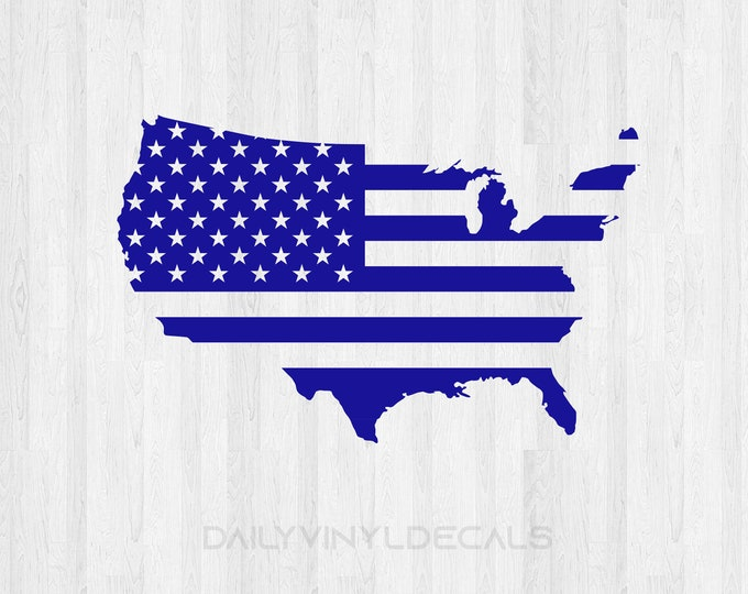USA American Flag Decal - United States American Flag Decal - USA Sticker Flag Sticker - Military US Flag Sticker - Car Decal