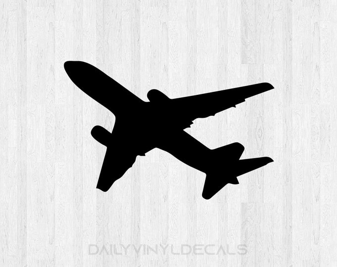 Commercial Airplane Decal Airplane Sticker - Airliner Decal Commercial Airline Pilot Di Cut Vinyl Decal Car Truck Laptop Decal etc.
