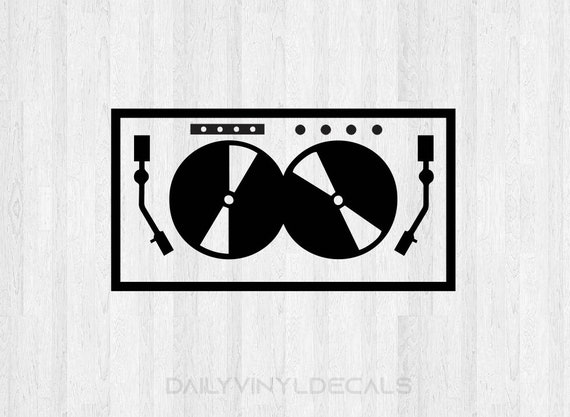 Dj Turn Table Decal Dj Decal - Turn Table Sticker Dj Sticker - Vinyl Record Decal Vinyl Decal Dance Music Electronic EDM