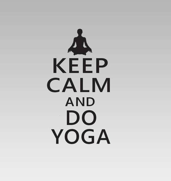 Keep Calm and Do Yoga Decal *Choose size & color* Keep Calm Chive Quote Sticker - Yoga Decal Yoga Sticker - Keep Calm and Yoga Vinyl Sticker