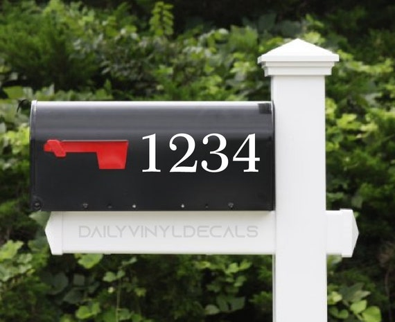Mailbox Number Decal - Custom Mailbox Sticker  - Di Cut Vinyl Decals - House Number Decals House Number Sticker Address Decal Street Number