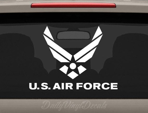 US Air Force Decal - Apply to Cars Trucks Windows Laptops etc - United States Air Force Vinyl Sticker Decal *Choose size & color* Military