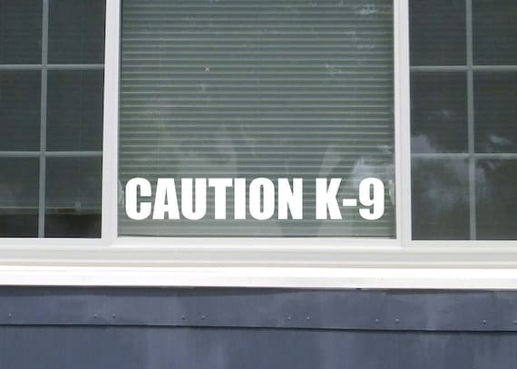 Caution K-9 Decal (2 Pack) Caution Decal Dog Caution Sticker - Warning Sign K9 Caution Sign Caution K9 Dog Sticker - Beware of Dog Sign