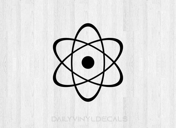 Atomic Decal Atomic Sticker - Atomic Symbol Decal Atomic Nucleus Decal - Science Sticker Car Decal Laptop Decal