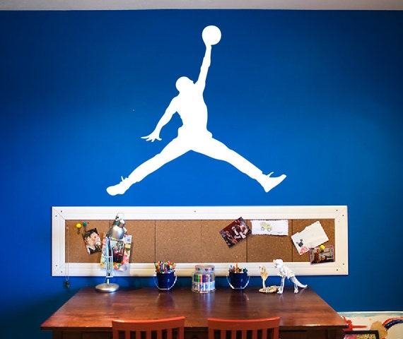Jordan Decal *Choose Size & Color* Jordan Sticker Jumpman Vinyl Decal - Large Wall Decal - Party Decor - Basketball Theme Birthday