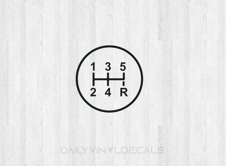 5 Speed Gear Shift Decal - 5 Speed Diagram - Manual Shift Car Stick Shift -  5 Speed manual transmission decal - Car decal truck decal etc