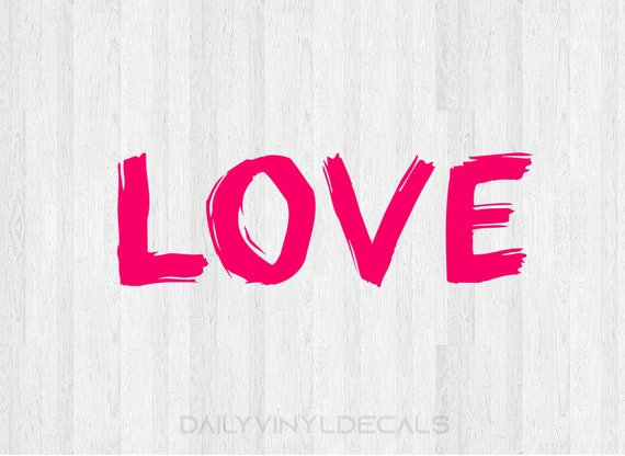 Love Decal Set of 2 Decals - Love Sticker Love Lettering Decal Love Word Decal Lettering Car Truck Laptop Decal