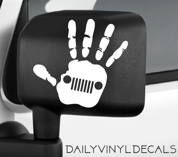 Jeep Wave Decal - Jeep Wave Sticker - Jeep Sticker Jeep Decal - Jeep Wrangler Wave Car Truck Automotive Decals
