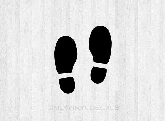 Foot Sticker Vinyl Decal People Feet footprint Paw Prints Tracks Car Wall Window