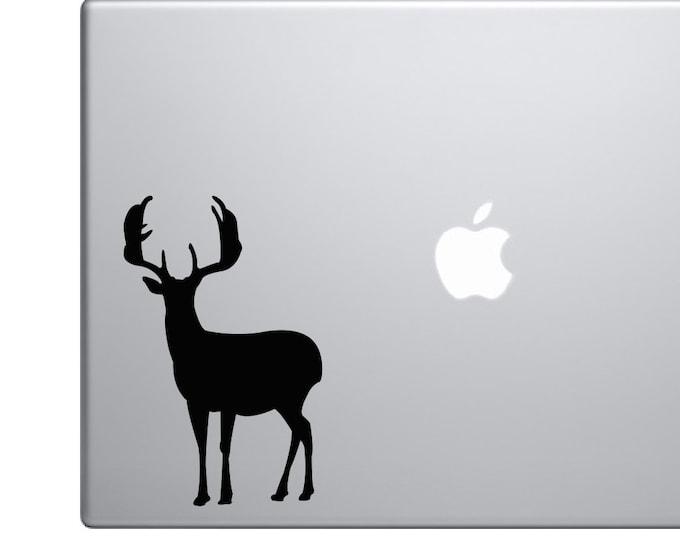 Big Game Buck Decal *Choose Size & Color* Deer Decal Deer Silhouette Vinyl Decal - Big Buck Rack Antlers Deer Sticker