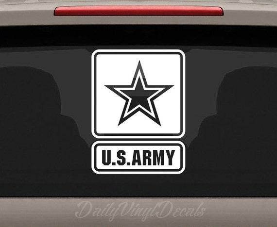 US Army Vinyl Decal - Apply to Cars Trucks Windows Laptops etc - United States Army Military Vinyl Sticker Decal *Choose size & color*