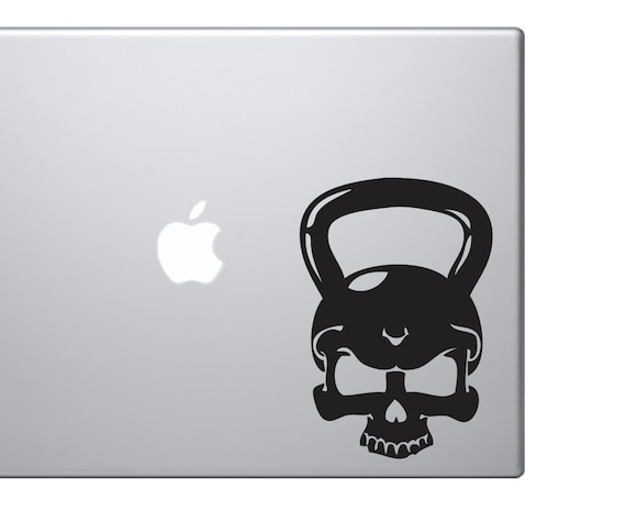 Crossfit Skull Kettlebell Car Laptop Decal Workout Equipment Exercise Fitness
