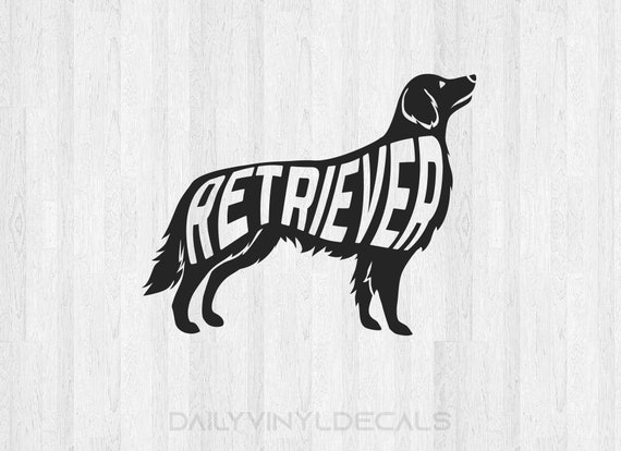 Retriever Decal - Retriever Sticker - Dog Decals Dog Stickers - Animal Family Pet Decals - Car Decals Laptop Decals Golden Retriever