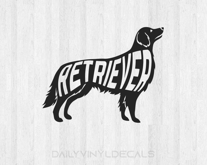 Retriever Decal - Retriever Sticker - Dog Decals Dog Stickers - Animal Family Pet Decals - Car Decals Laptop Decals Golden Retriever