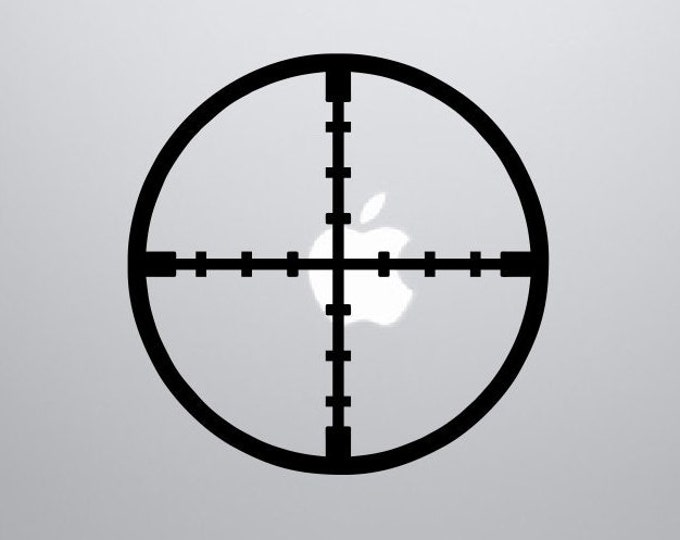 Reticle Decal *Choose Size & Color* Reticle Crosshairs Vinyl Sticker - Gun Scope Sights Rifle Bullets Shooting Target Practice Decals Decor