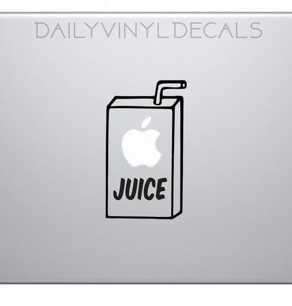 Apple Juice Box Decal - Laptop Macbook Apple Stickers - Apple Juice Box Stickers - Funny Goofy Vinyl Stickers Vinyl Decals