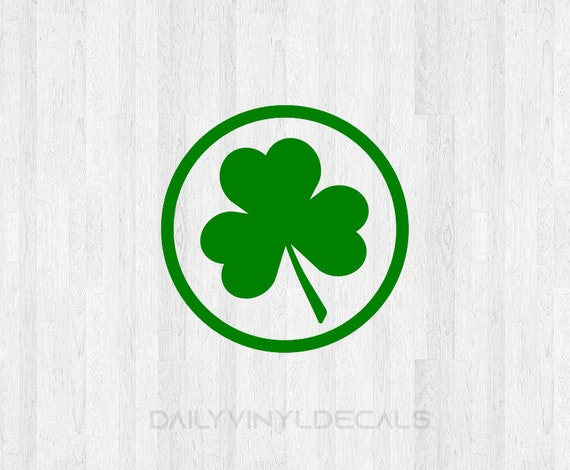 Shamrock Circle Decal - Shamrock Circle Sticker 3 Leaf Clover Decal Clover Sticker Irish Celtic Lucky Clover St Patricks Day Shamrock Decal