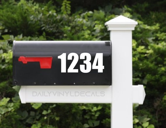 Mailbox Number Decal - Custom Mailbox Sticker - Bold Professional Numbers - Di Cut Vinyl Decals - House Number Decals House Number Sticker