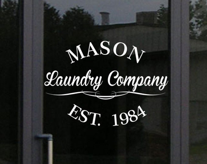 Custom Storefront Decal - Your Business Name and Information in this design - Business Window Vinyl Decal Sticker Graphic - Shop Sign