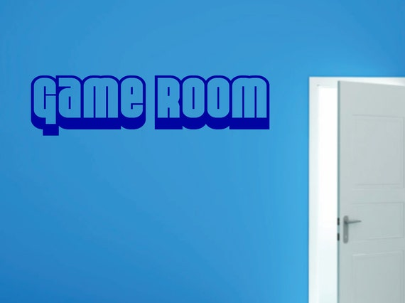 GAME ROOM Vinyl Wall Decal - Gaming Kids Room Play Room Toys Video Games - Custom Vinyl Wall Graphic