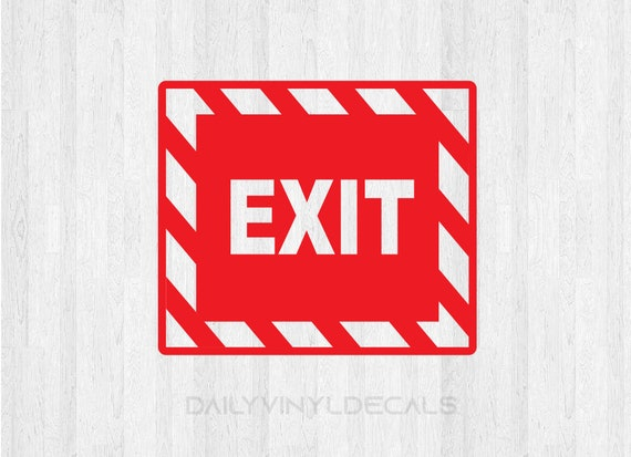 Exit Decal Emergency Exit Decal - Emergency Exit Sign Decal Store Decal Door Decal Window Decal Business Building Sign