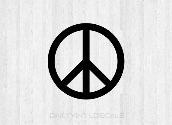 Set of 2 Peace Sign Decals - Peace Sign Stickers - Car Truck Laptop Decal etc. Peace Decal Peace Sticker