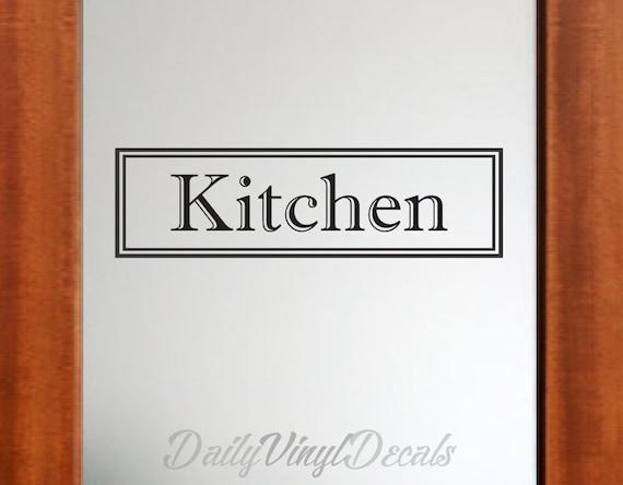 Kitchen Decal - Kitchen Sticker Lettering Vinyl Wall Decal - Home Decor Decals Vinyl Wall Art - Kitchen Decor Decals