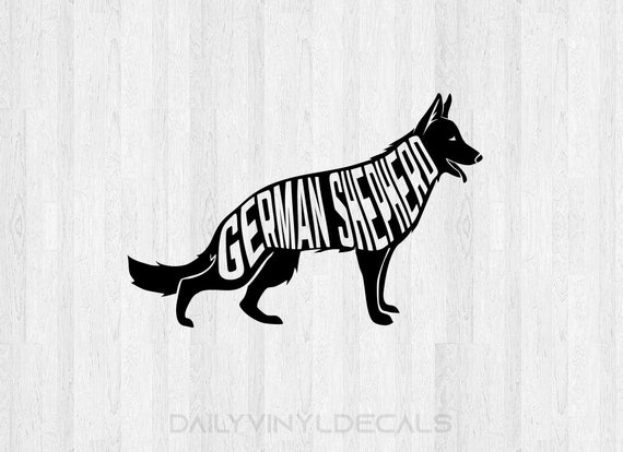 German Shepherd Decal *Choose Size & Color* German Shepherd Sticker Dog Decals Dog Sticker - K9 Animals Pet Decals Pet Stickers