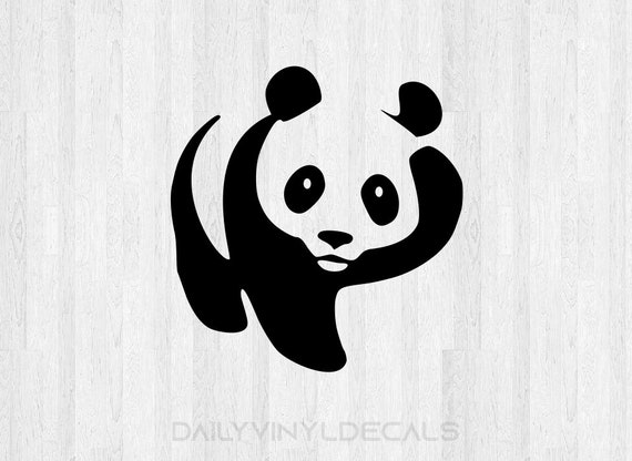 Panda Decal Panda Sticker Panda Bear Decal Panda Bear Sticker Car Decal Laptop Decal etc *Choose Size & Color* Animal Decals Animal Stickers