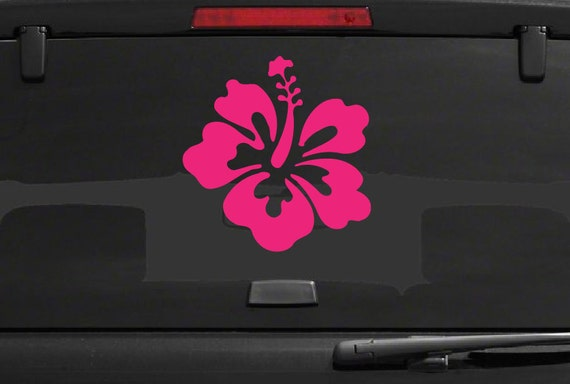 Hibiscus Decal *Choose Size & Color*  Car Decal Hibiscus Flower Vinyl Sticker - Car Truck Laptop Macbook Decals Etc. Hawaii Flower