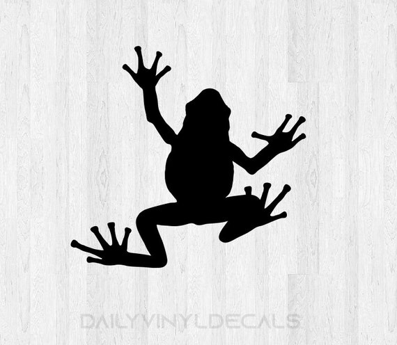 Frog Decal Frog Sticker *Choose size and color* Frog Silhouette Decal Silhouette Sticker - Car Laptop Cell Phone Computer Decal Etc.