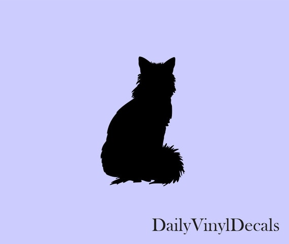 Cat Silhouette Vinyl Decal *Choose Size & Color* Cat Sticker Silhouette Vinyl Stickers - House Pets Animals Kitten Feline - Cats