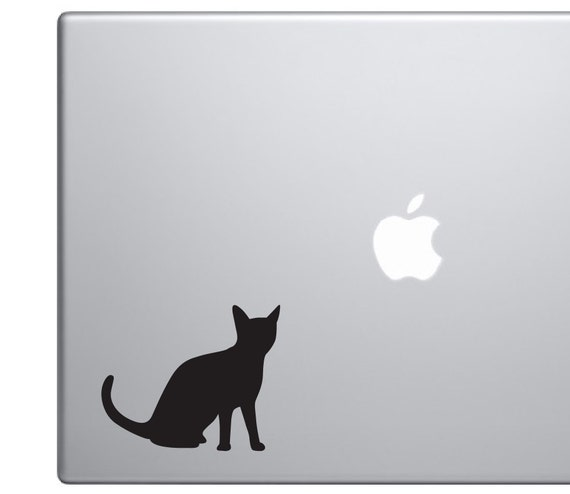 Cat Silhouette Vinyl Decal *Choose Size & Color* Cat Silhouette Vinyl Sticker - Pets Kitten Black Cat House Pet Animal Stickers