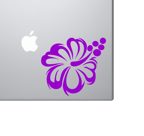 Hibiscus Flower Vinyl Decal *Choose Size & Color* Hibiscus Flower Vinyl Sticker - Car Truck Laptop Macbook Decals Etc. Hawaii Flower