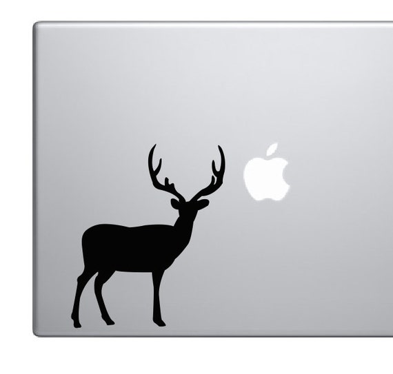 Deer Vinyl Decal *Choose Size & Color* Deer Silhouette Vinyl Decal - Big Buck Rack Antlers Big Game Hunting - Vinyl Decals Stickers